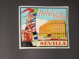 SEVILLA HOTEL COLON- 1 étiquette Valise - Hotel Labels