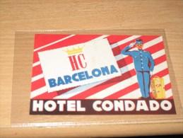 BARCELONA HOTEL CONDADO  - 1 étiquette Valise - Etiketten Van Hotels