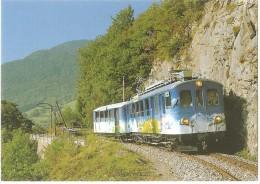 "TRAIN Suisse - EISENBAHN Schweiz - AIGLE SÉPEY DIABLERETS - ""TransOrmonan"", Automotrice ABDe 4/4 N°1 - Autorail, Tramway - Trains"