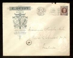 Brief Met Nr. 196 Van E. GUYOT - Typographie & Lithographie Van BRUXELLES / BRUSSEL Naar MALINES Dd. 12/6/1923 ! - Printing & Stationeries