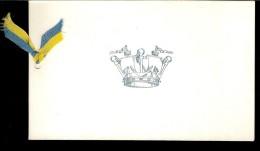 CARTE DE VŒUX :du H.M.S.HALLAND , Navire De Guerre J18 - Cartes Marines