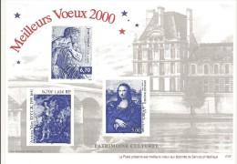 GRAVURE MEILLEURS VOEUX 2000 - Blocks & Kleinbögen