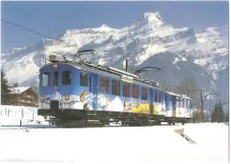 """TRAIN Suisse - EISENBAHN Schweiz - AIGLE SÉPEY DIABLERETS - """"Le Trans Ormonan"""" - Autorail, Tramway - Photo M. Fornerod - Trains"""