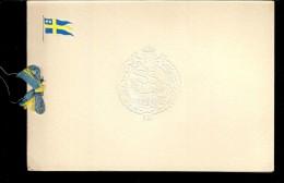CARTE DE VŒUX Avec Photo Argentique :du H.M.S.HALLAND , Navire De Guerre J18 - Cartes Marines