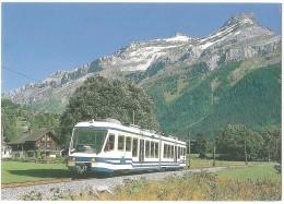 TRAIN Suisse - EISENBAHN Schweiz - LES  DIABLERETS - Autorail, Nouvelle Composition FART - Foto Serge Leloup - Tramway - Trains