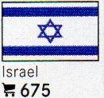 6-set Flaggen-Sticker Israel In Farbe 4€ Zur Kennzeichnung Von Alben Und Sammlungen Firma LINDNER #675 Flags Of ISRAELI - Matériel