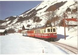 TRAIN Suisse - EISENBAHN Schweiz - LES  DIABLERETS - Automotrices ABFe 4/4 2, ABDe 4/4 1 - Autorail, Tramway - Geerinck - Trains