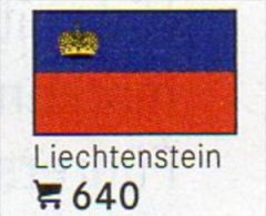 6-set Flaggen-Sticker Liechtenstein In Farbe 4€ Zur Kennzeichnung Von Alben+Sammlung Firma LINDNER #640 Flags Fürstentum - Matériel