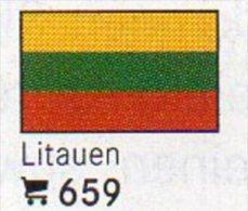 6-set Flaggen-Sticker Litauen In Farbe 4€ Zur Kennzeichnung Von Alben Und Sammlungen Firma LINDNER #659 Flags Of LIETUVA - Supplies And Equipment