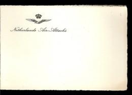 CARTE DE VŒUX   : NETHERLANDS AIR-ATTACHE - Cartes Marines