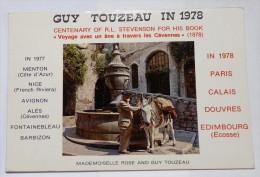 Centenaire De STEVENSON - GUY TOUZEAU En 1978. Mademoiselle Rose  Et Guy Touzeau. - Writers