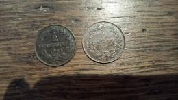 2 X 2 Cent - Très Belles - 1861M + 1867 T - Italy
