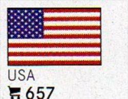 6-set Flaggen-Sticker USA In Farbe 4€ Zur Kennzeichnung Von Alben + Sammlungen Firma LINDNER #657 Flags Of United States - Matériel