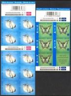 Belgium**BUTTERFLIES-2 Booklets@10vals-Cabbage White+Swallowtail-2012-Mariposas-Papillons-Schmetterling - Belgium