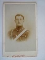 Photo Foto Militair Soldat Carte De Visite Par Joh Mehlbreuer Strassburg 6,4 X 10,20 Cm - Guerra, Militari