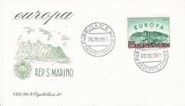 SAN MARINO  EUROPA CEPT 1961  FDC - 1961