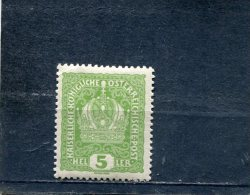 AUSTRIA. 1916. SCOTT 146. - Neufs