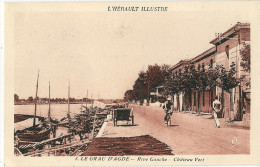CPA 34 LE GRAU D´AGDE RIVE GAUCHE CHATEAU VERT ANIMEE - Unclassified