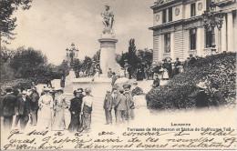 Lausanne Terrasse De Montbenon Et Statut De Guillaume Tell - VD Vaud
