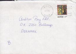 Norway Deluxe SOLA 1986 Cover Brief To Denmark Weihnachten Christmas Jul Noel Natale Navidad Stamp - Briefe U. Dokumente