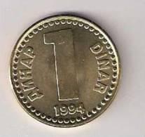 Yugoslavia 1 Dinar 1994. UNC    KM#160 - Yugoslavia