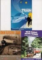 PUB Avec Thématique Train France Et Allemangne LOT De 3 CPM - - Trains