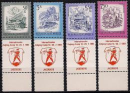 Österreich ALLONGEN 4 Versch. ! Werte KOLPING CAMP 13.-23.07.1984 Jagerberg MNH TOP - 1981-90 Ungebraucht