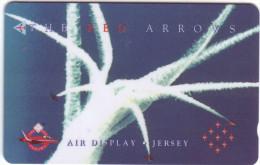 """Télecarte Holographique Jersey Telecoms """"The Red Arrows""""  """" £2 Vide  Bon état  ** N° Lot:48JERB 023140 - Ver. Königreich"""