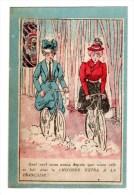 Chromo Avec Vélo, Bicyclette - Kaufmanns- Und Zigarettenbilder