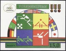 Turkmenistan 1992 Yvertn° Bloc 2 Michel Block 2 *** MNH Cote 7,00 Euro Sport - Turkménistan