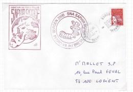 SNA SAPHIR, Equipage Rouge, Pedro Va Au Brézil, Toulon Naval 29/9/2000 - Postmark Collection (Covers)