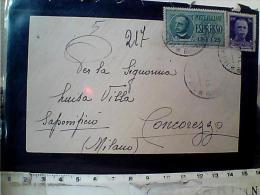 BUSTA ESPRESSO 13 02 1944 MI X CONCOREZZO VB1944 EI4225 - Exprespost