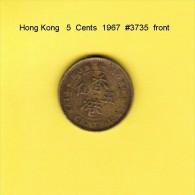 HONG KONG    5  CENTS  1967  (KM # 29.1) - Hong Kong