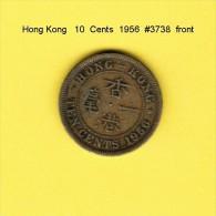 HONG KONG    10  CENTS  1956  (KM # 28.1) - Hong Kong
