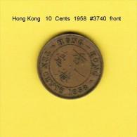 HONG KONG    10  CENTS  1958  (KM # 28.1) - Hong Kong