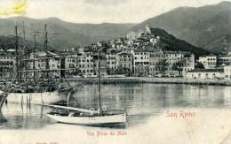 SAN REMO  Vue Prise Du Mole-Grands  Voiliers- - Italie