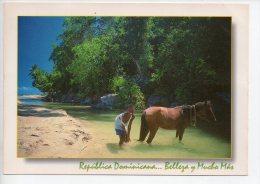 REF EY1 : CPM Carte Postale Grand Format République Dominicaine Republica Dominicana Enfant Et Cheval - Dominicaine (République)