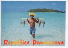 REF EY1 : CPM Carte Postale Grand Format République Dominicaine Republica Dominicana Pecheur - Dominicaine (République)