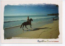 REF EY1 : CPM Carte Postale Grand Format République Dominicaine Republica Dominica Cheval Sur La Plage - Dominicaine (République)