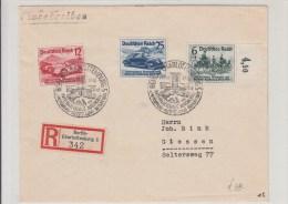 STORIA POSTALE-F.D.C.BUSTA  RACCOMANDATA INTERNATIONALE AUTOMOBILIST 1939-BERLIN-CHARLOTTENBURG AL VERSO GIEBEN- - Post