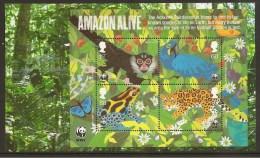 GRAN BRETAÑA - WWF & EUROPE 2011 - -–  HOJITA BLOQUE PROCEDENTE DEL PRESTIGE BOOK - DENTADA - W.W.F.