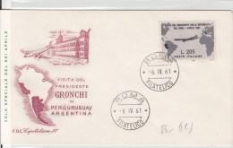 STORIA POSTALE FILATELIA FRANCOBOLLI PUBBLICITA´-BUSTA POSTALE 6-IV-1961 ROMA GRONCHI FDC - Unclassified
