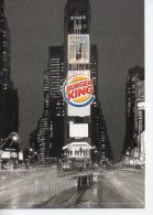 REF 162 : CPM Publicitaire  Max Card Burger King New York Coca Cola - Pin-Ups