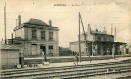 CPA 78 ACHERES LA GARE 1916 - Acheres