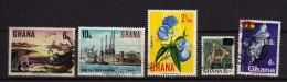 5 Timbres Du Ghana Oblitérés - Ghana (1957-...)