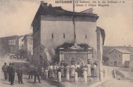 Castelnuovo Di Porto-fontana Con Via Galliano-animata-costumi-bella - Italia