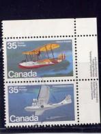 CANADA, 1979, USED # 846a. FLYING BOATS , BATEAU  , Se-tenant Pair  USED - 1952-.... Règne D'Elizabeth II