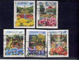 CANADA , 1991, USED # 1311-5, PUBLIC GARDENS , JARDINS PUBLIQUE DU CANADA  USED - 1952-.... Règne D'Elizabeth II