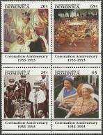 Dominica 1993 Yvertn° 1523-26 Michel 1697-1700 *** MNH Cote 45 FF Queen Elisabeth II - Dominique (1978-...)