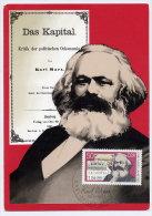 EAST GERMANY 1983 Karl Marx Year Official Maxicard. - Karl Marx